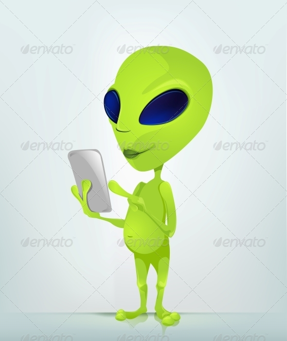 GraphicRiver Cartoon Character Alien 3622321