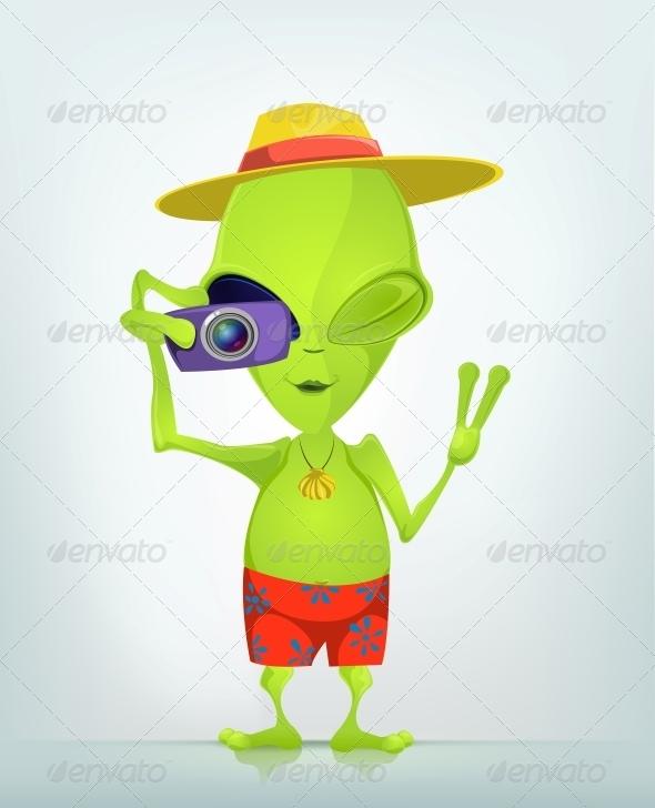 GraphicRiver Cartoon Character Alien 3622324