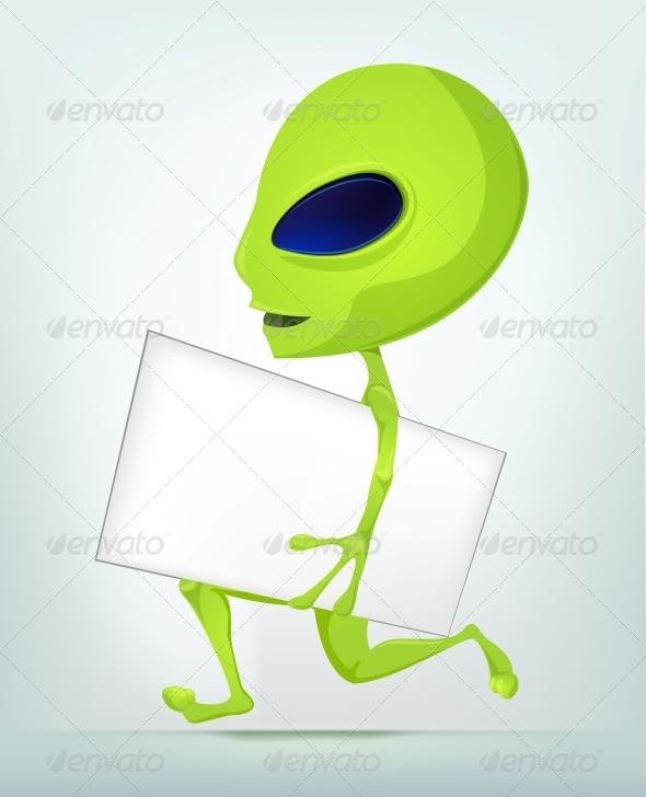 GraphicRiver Cartoon Character Alien 3622328