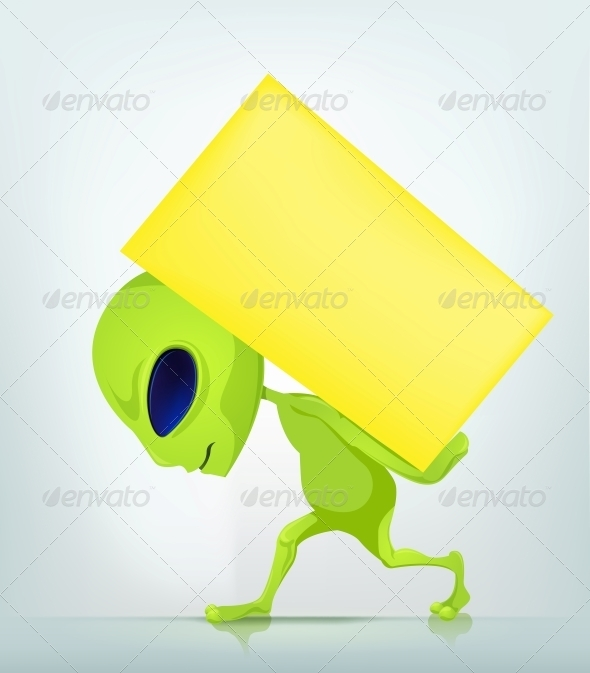 GraphicRiver Cartoon Character Alien 3622333