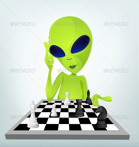 GraphicRiver Cartoon Character Alien 3622347