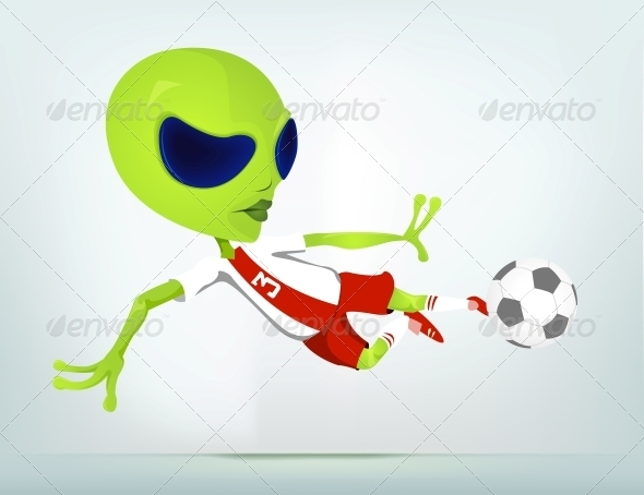 GraphicRiver Cartoon Character Alien 3622349