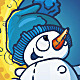 Snowman On The Moon - GraphicRiver Item for Sale