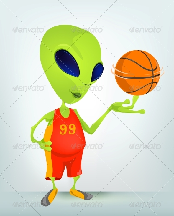 GraphicRiver Cartoon Character Alien 3622365