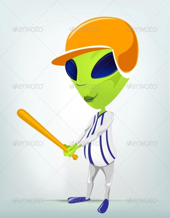 GraphicRiver Cartoon Character Alien 3622383