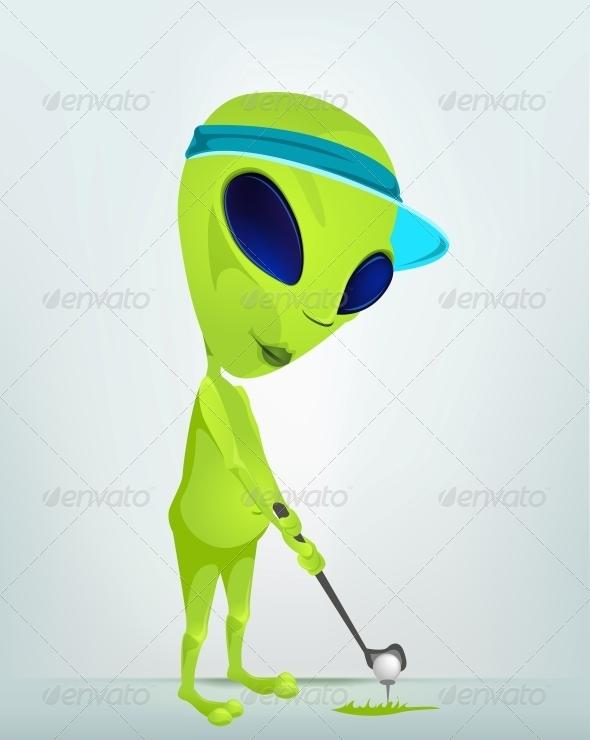 GraphicRiver Cartoon Character Alien 3622391