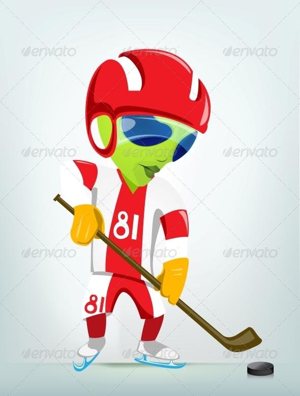 GraphicRiver Cartoon Character Alien 3622406