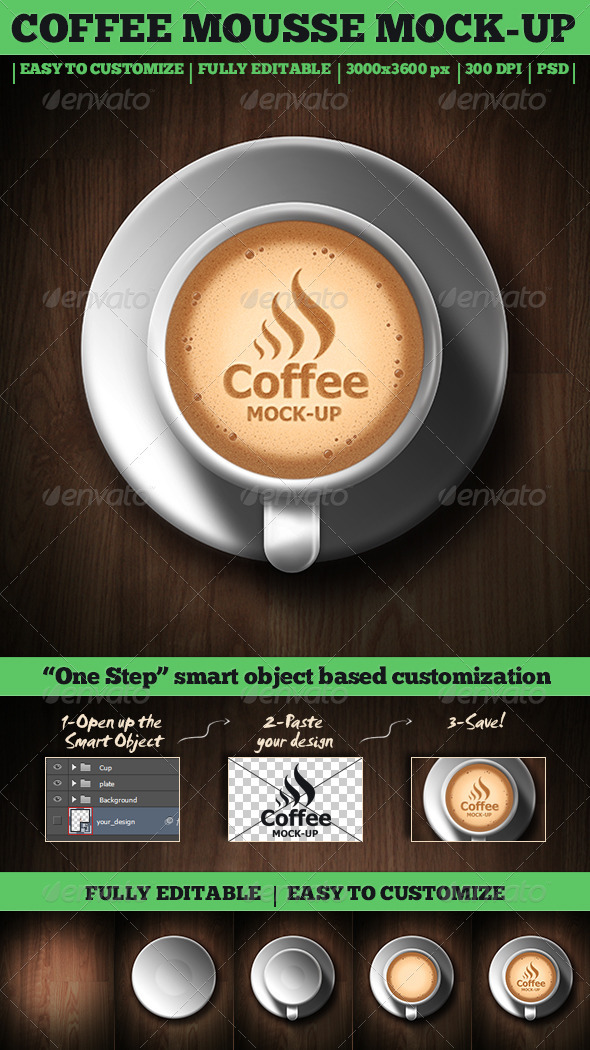 GraphicRiver Coffee Mousse Mock-Up 3586817