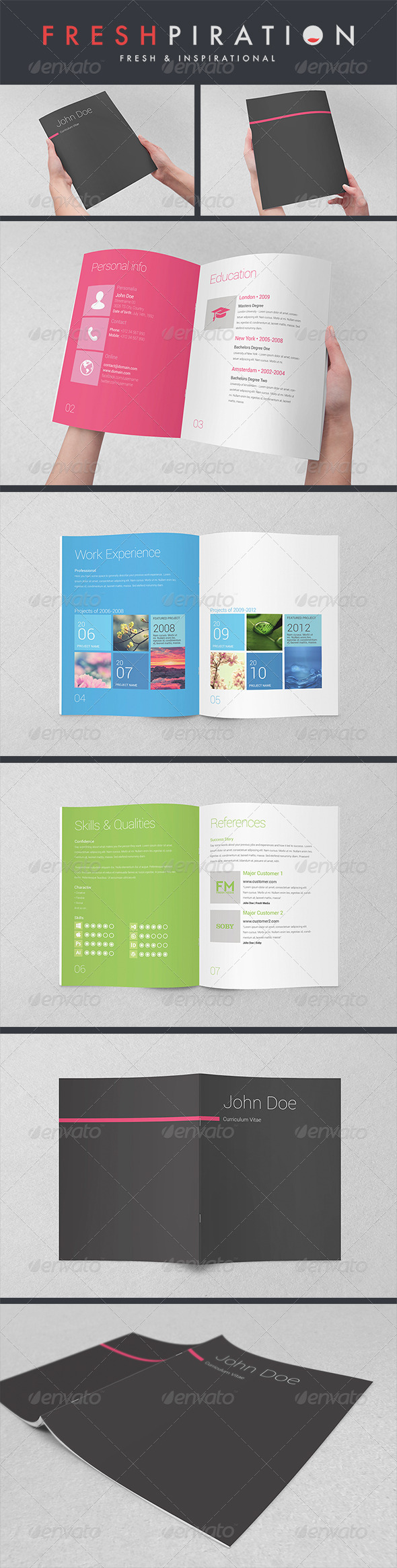 GraphicRiver Metro Inspired Clean Resume Booklet 8 Pages 3588610
