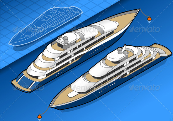 GraphicRiver Isometric Yacht in Two Positions 3622455