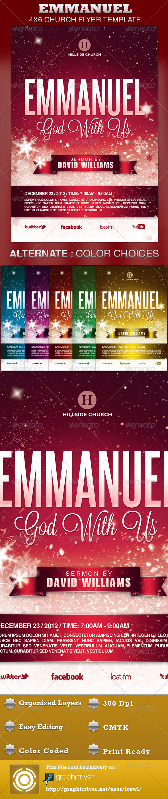 GraphicRiver Emmanuel Church Flyer Template 3623142