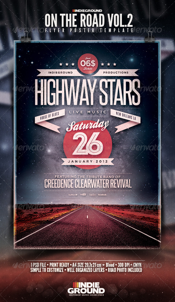 GraphicRiver On The Road Flyer Poster Vol 2 3623377
