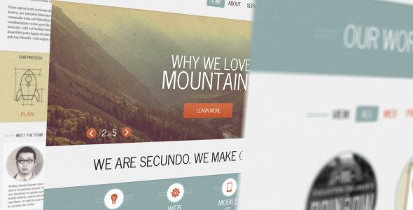 ThemeForest Secundo Site Template 3623821