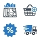 Shopping and E-commerce Icons Set 1 - Blue Series - GraphicRiver Item for Sale