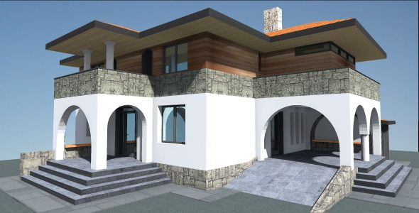 Spanish House 3d Model - 3DOcean Item for Sale