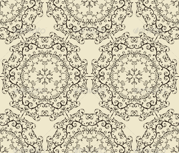 GraphicRiver Vector Seamless Vintage Wallpaper Pattern 3624103