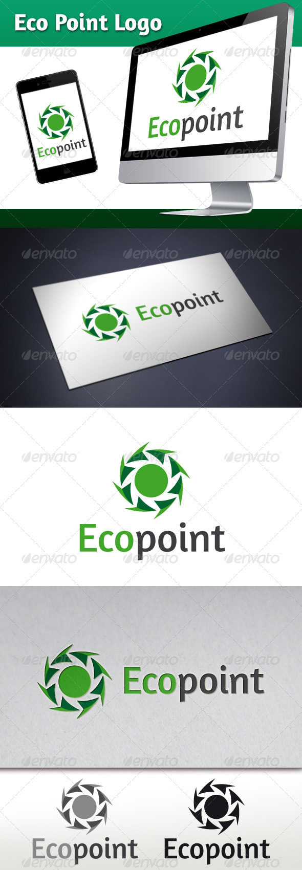 GraphicRiver Eco Point Logo Template 3571522