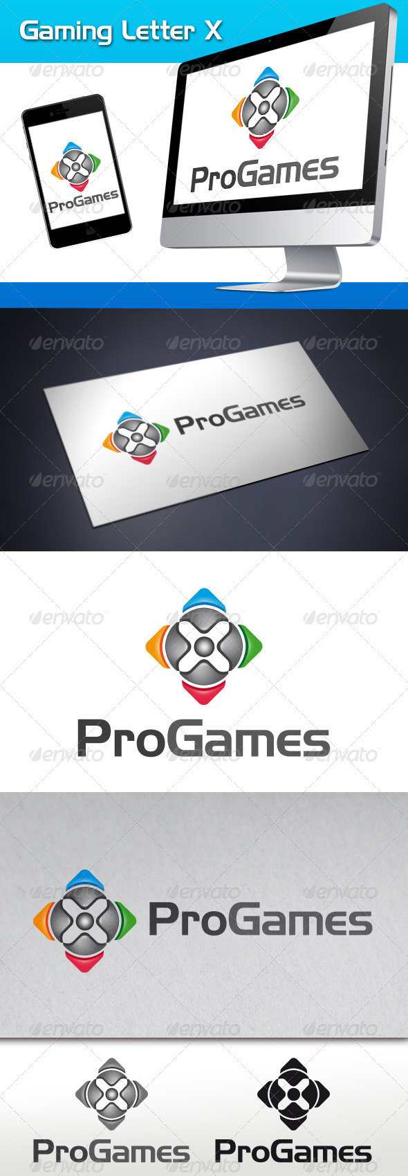 GraphicRiver Gaming Letter X Logo Template 3573927