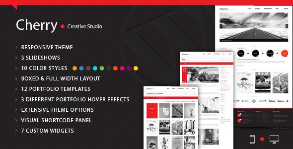 ThemeForest Cherry Portfolio WordPress Theme WordPress Creative Portfolio 3583604