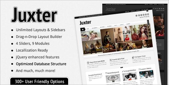ThemeForest Juxter Powerful & Elegant WP Theme 2378934
