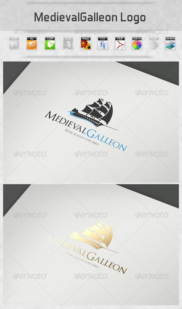 MedievalGalleon Logo - Objects Logo Templates