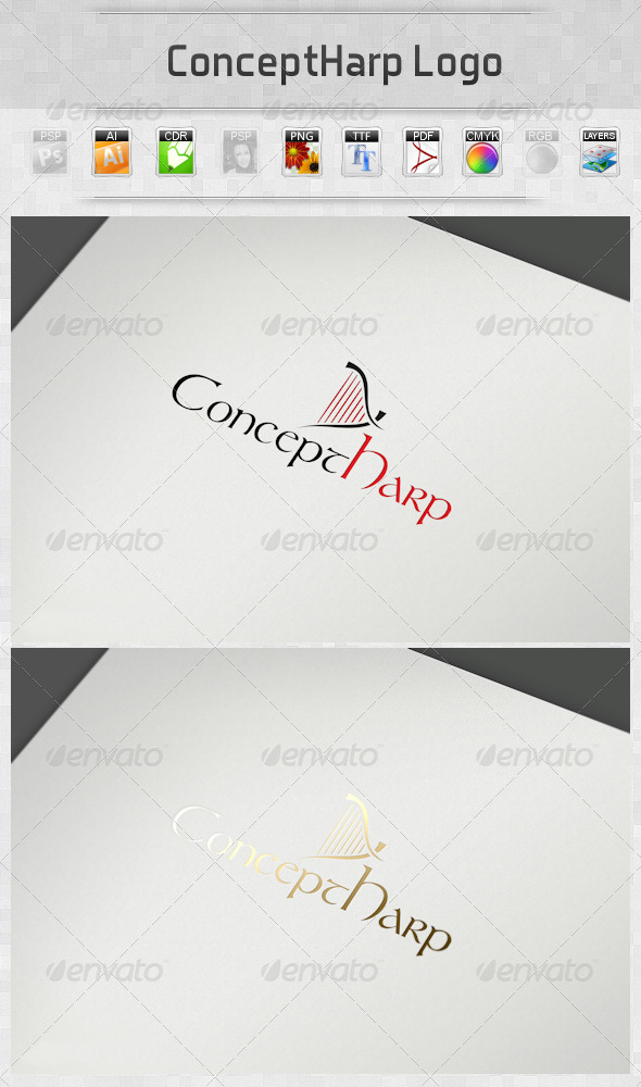ConceptHarp Logo - Objects Logo Templates