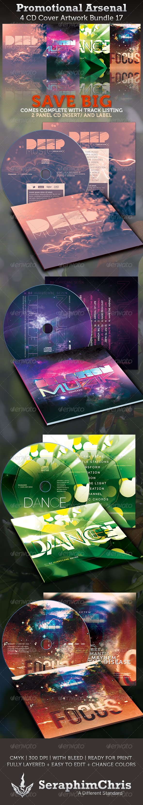 GraphicRiver Promotional Arsenal CD Cover Artwork Bundle 17 3624552