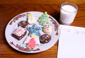 Christmas Cookies Milk and blank note for Santa Claus - PhotoDune Item for Sale
