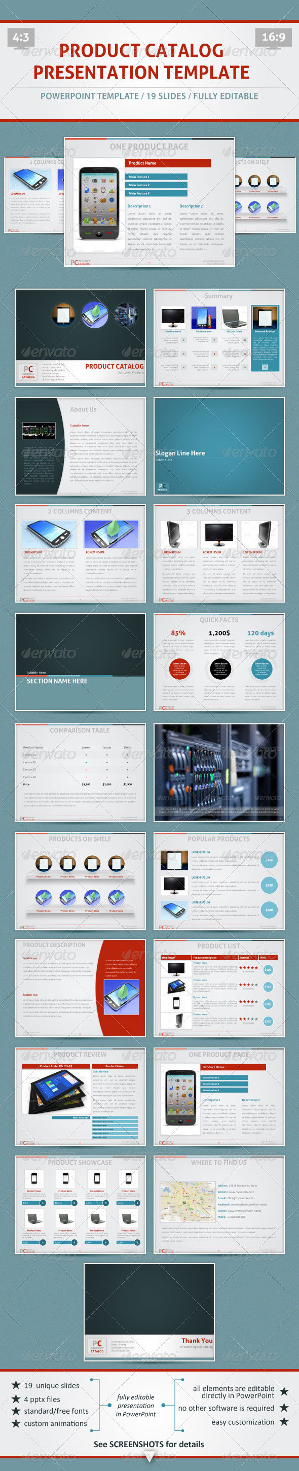 GraphicRiver Product Catalog PowerPoint Template 2847956