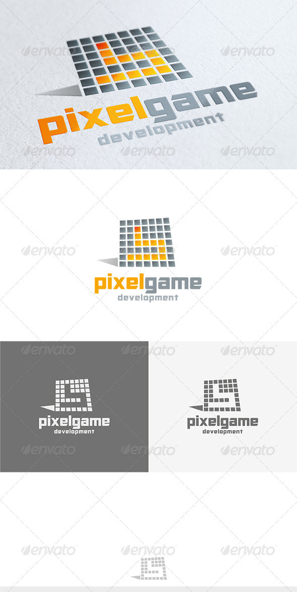 GraphicRiver Pixel Game Logo 3626809