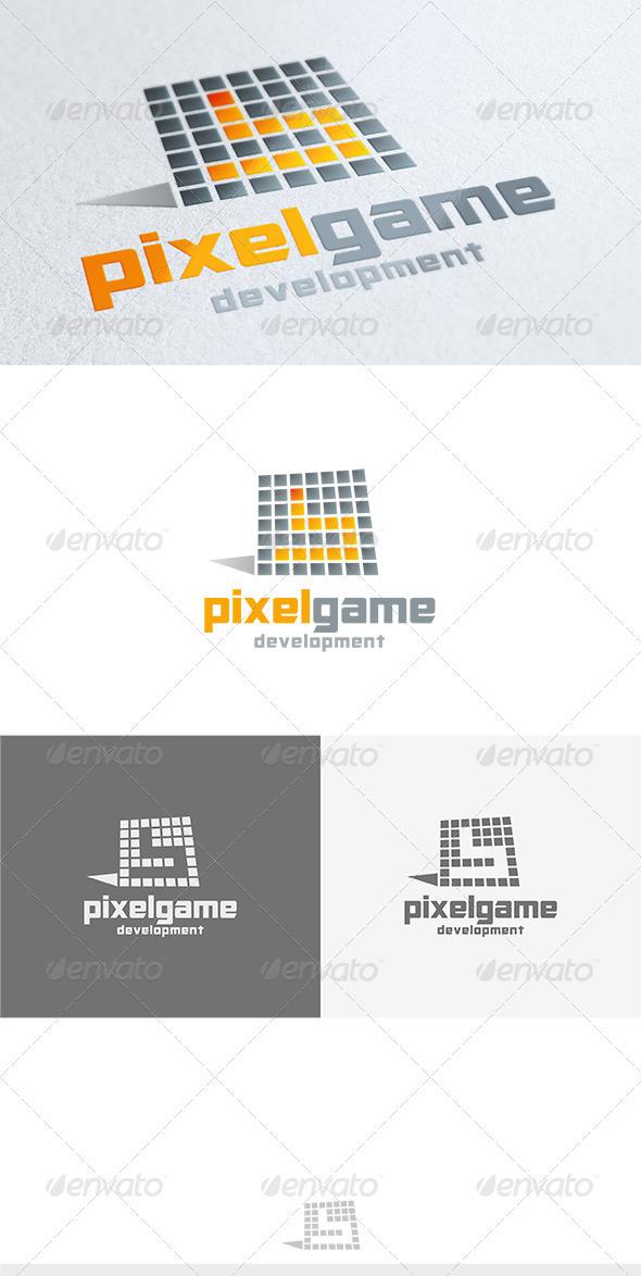 Pixel Game Logo