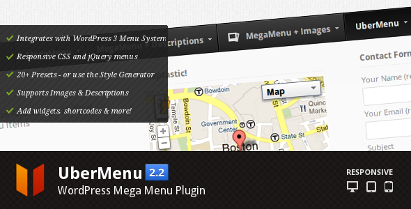 CodeCanyon UberMenu WordPress Mega Menu Plugin 154703