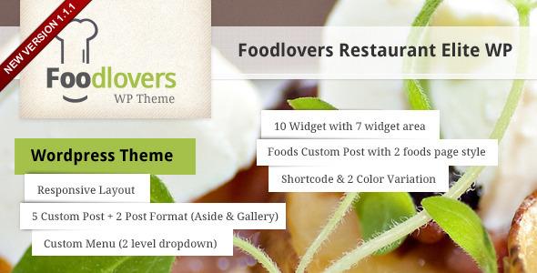 Foodlovers Restaurant Elite WP - Restaurants & Cafes Entertainment