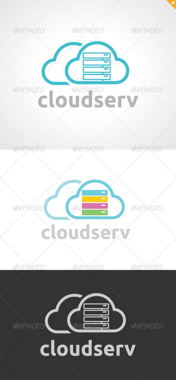 GraphicRiver Cloud Serv Logo 3573351