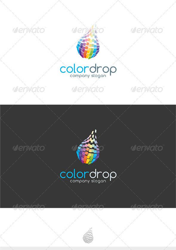 GraphicRiver Color Drop Logo 3627319