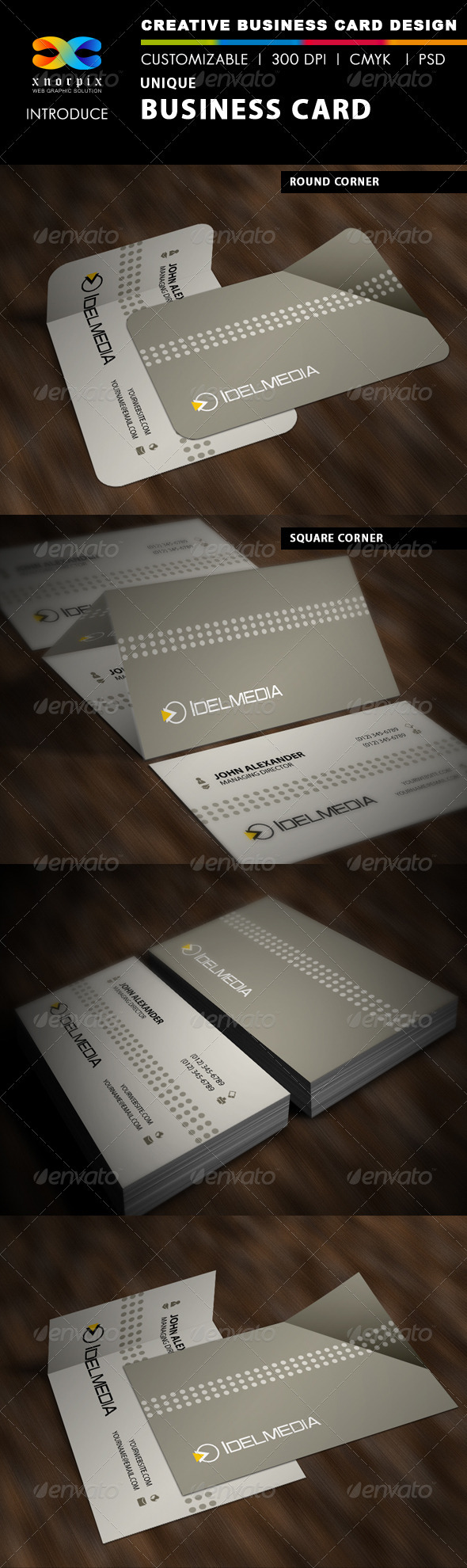 GraphicRiver Unique Business Card 3627420