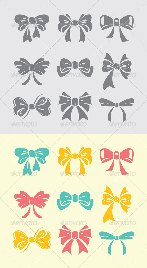 GraphicRiver Bow icon set 3627491