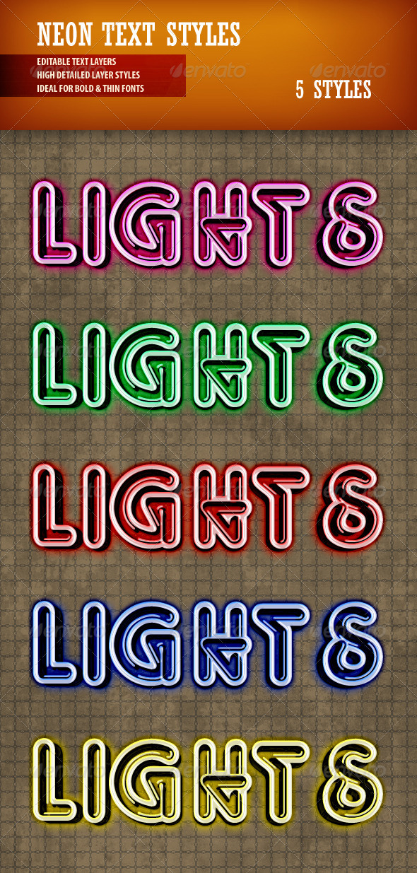 GraphicRiver Neon Text Styles 3627501