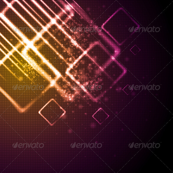 GraphicRiver Vector Shiny Tech Background 3592803