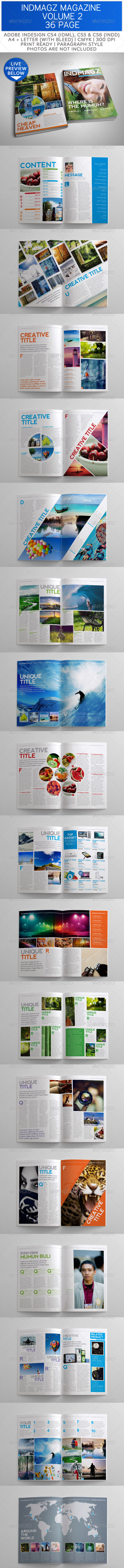 GraphicRiver 36 Pages Modern & Clean Magazine Templates Vol 2 3584825
