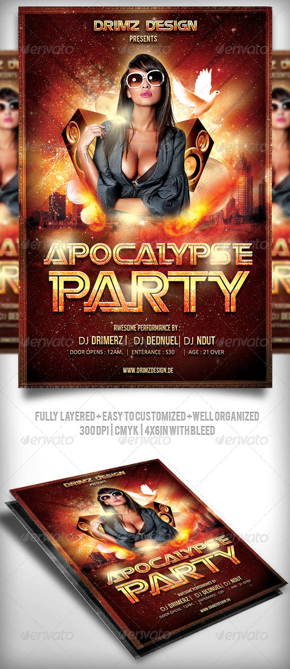 Apocalypse Party Flyer - Clubs & Parties Events