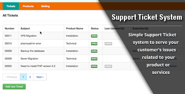 CodeCanyon Support Ticket System 3627648