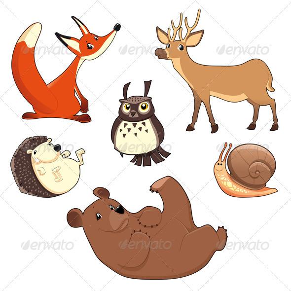 GraphicRiver Wood Animals 3627658