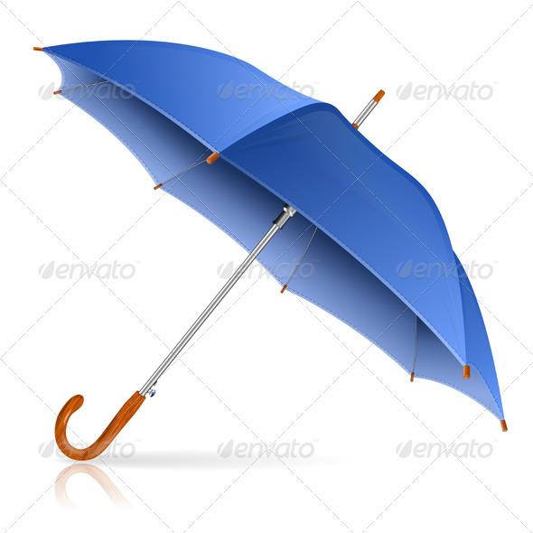 GraphicRiver Blue Umbrella 3627754