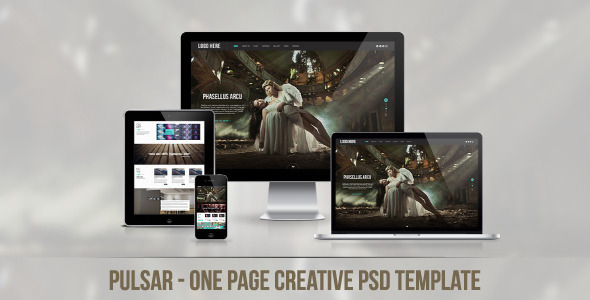 Pulsar - One Page Creative PSD Template - Creative PSD Templates