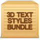 3D Text Styles Bundle - GraphicRiver Item for Sale