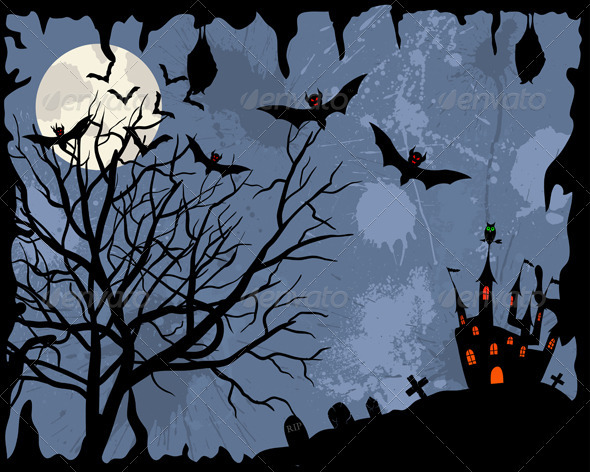 GraphicRiver Halloween Card 3628768