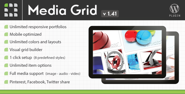 CodeCanyon Media Grid Wordpress Responsive Portfolio 2218545