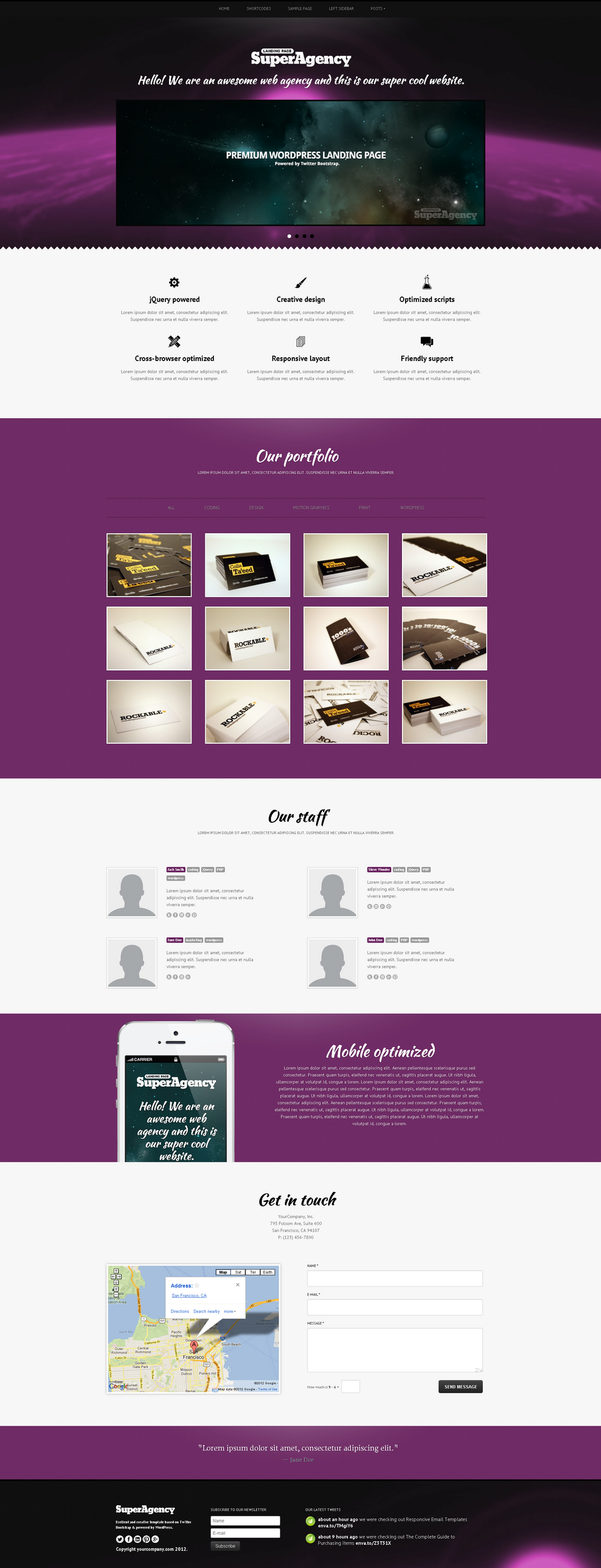Super Agency - Responsive WordPress Single Page - Super Agency WordPress Theme - earth theme with video header