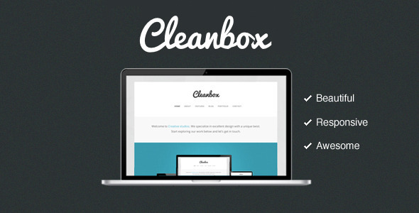 ThemeForest Cleanbox Clean Responsive Awesome 3476575